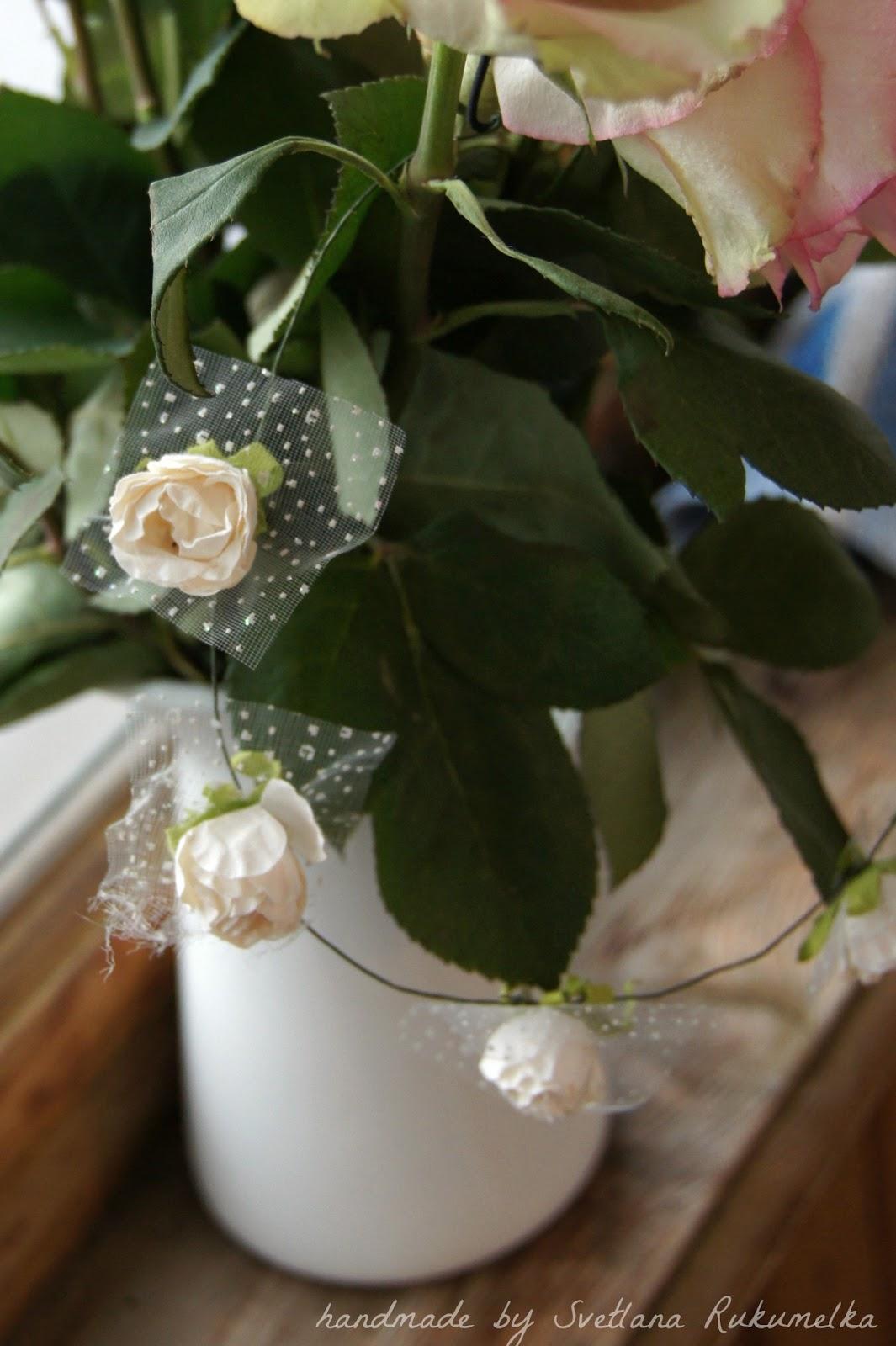 скрап цветы
