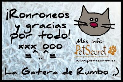 Agradecimiento de La Gatera de Rumbo para PetSecret