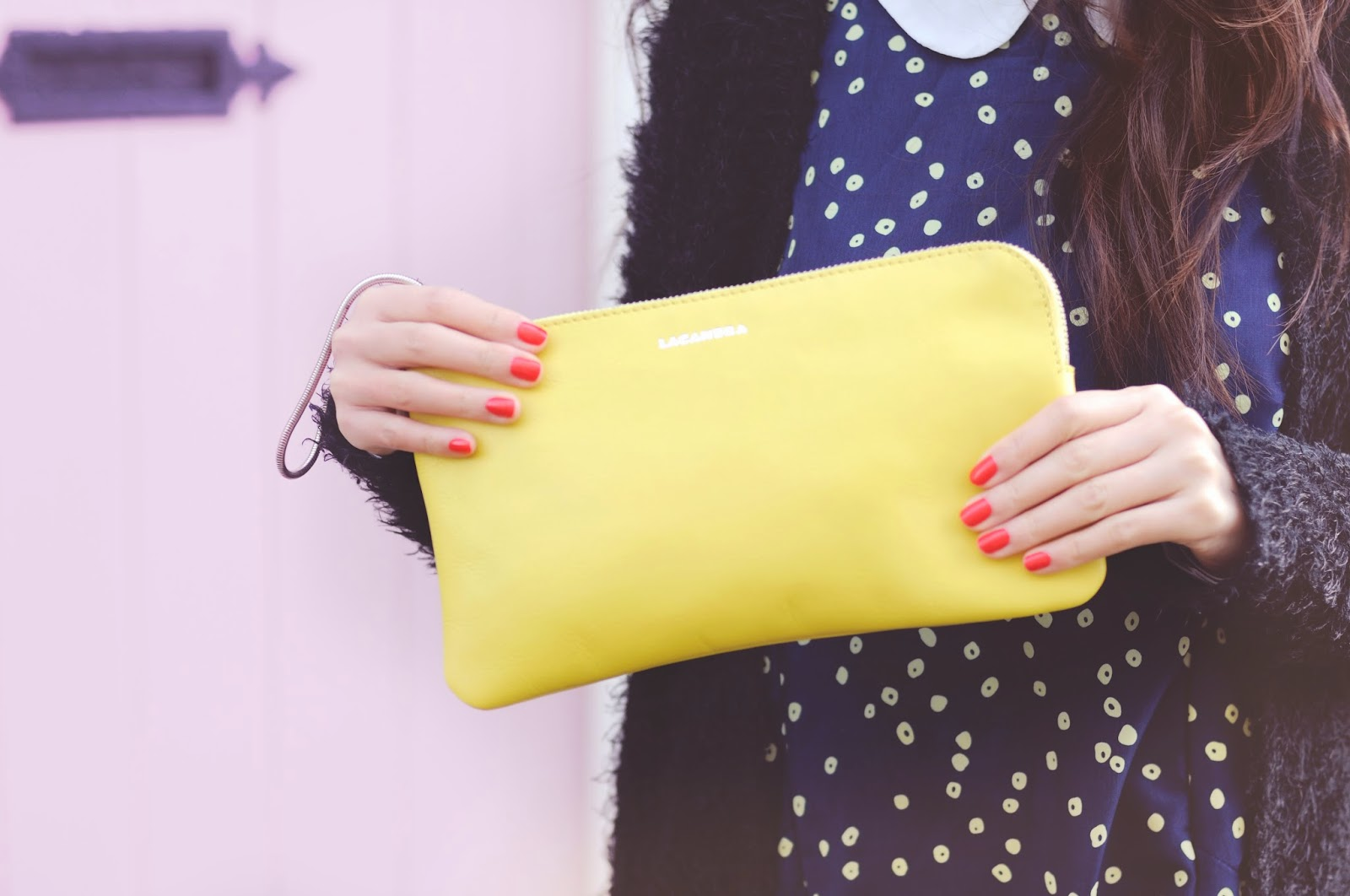 Styling statement accessories, ways to wear a yellow clutch bag