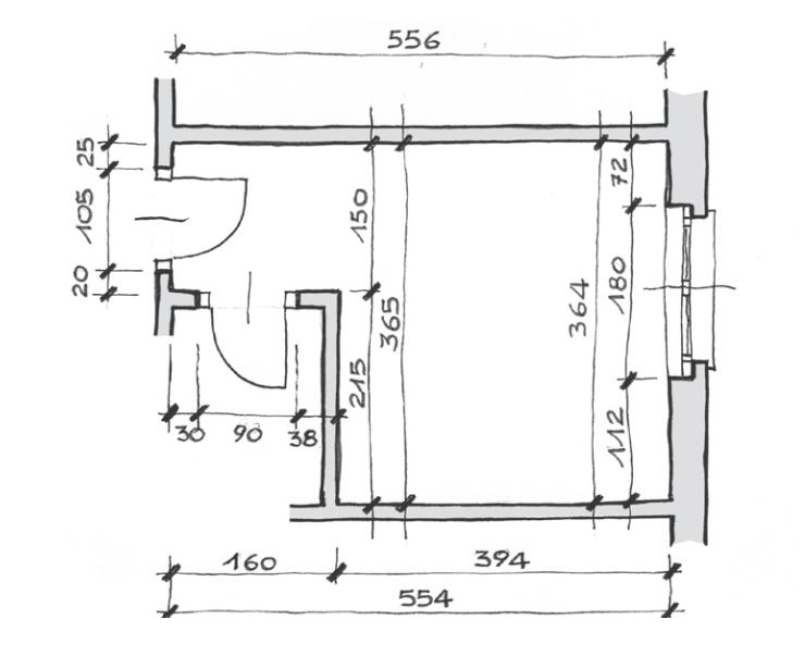 Noi e la tecnica disegnare in scala la propria camera da for Esempi di disegni di planimetrie della casa