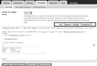no expand widget templates box