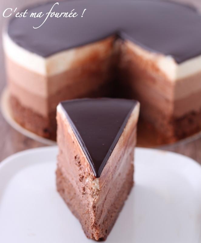 l'entremets trois chocolats de valrhona