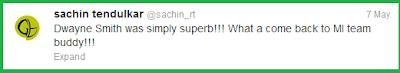 Sachin's Twitter