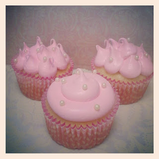 Pink & Pearl Baby Shower CupCakes & Cake Balls