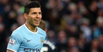 Sergio Aguero (Man City) - Inidia 10 Striker Paling Mematikan di Eropa Sejauh Ini