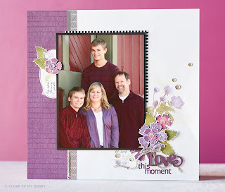 CTMH Paper Garden SOTM Stamp Set Scrapbook Layout