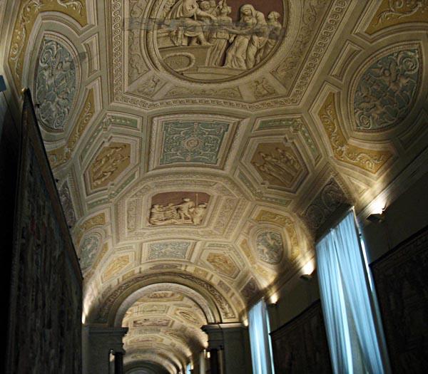 pastel artwork at the sistine chapel in rome
