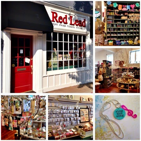 Red Lead Store Front September 2014 by Kimberly Jones serendipityvintagestudio.blogspot.com