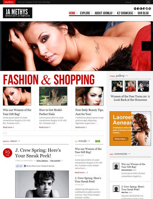Joomla 2.5 Template fASHION & Shopping