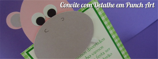 Convite com Detalhe em Punch Art