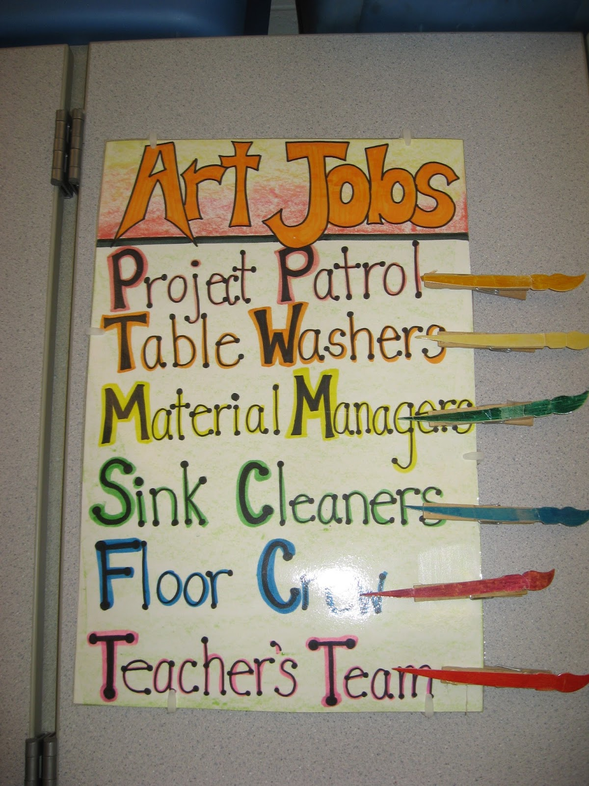 Classroom Job Ideas Elementary ~ Jamestown elementary art around our classroom