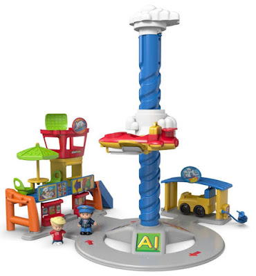 TOYS : JUGUETES - Fisher-Price : Little People  Aeropuerto | Spinnin' Sounds Airport  Producto Oficial 2015 | Mattel | A partir de años  Comprar en Amazon España & buy Amazon USA