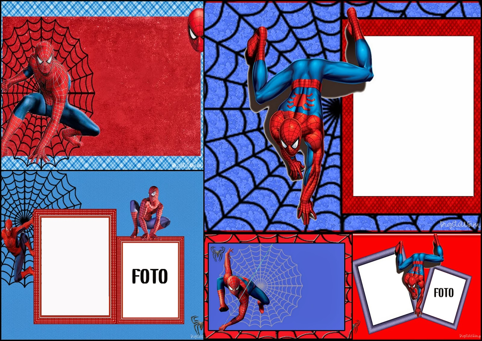 Spiderman Free Printable Invitations Cards Or Photo Frames Oh