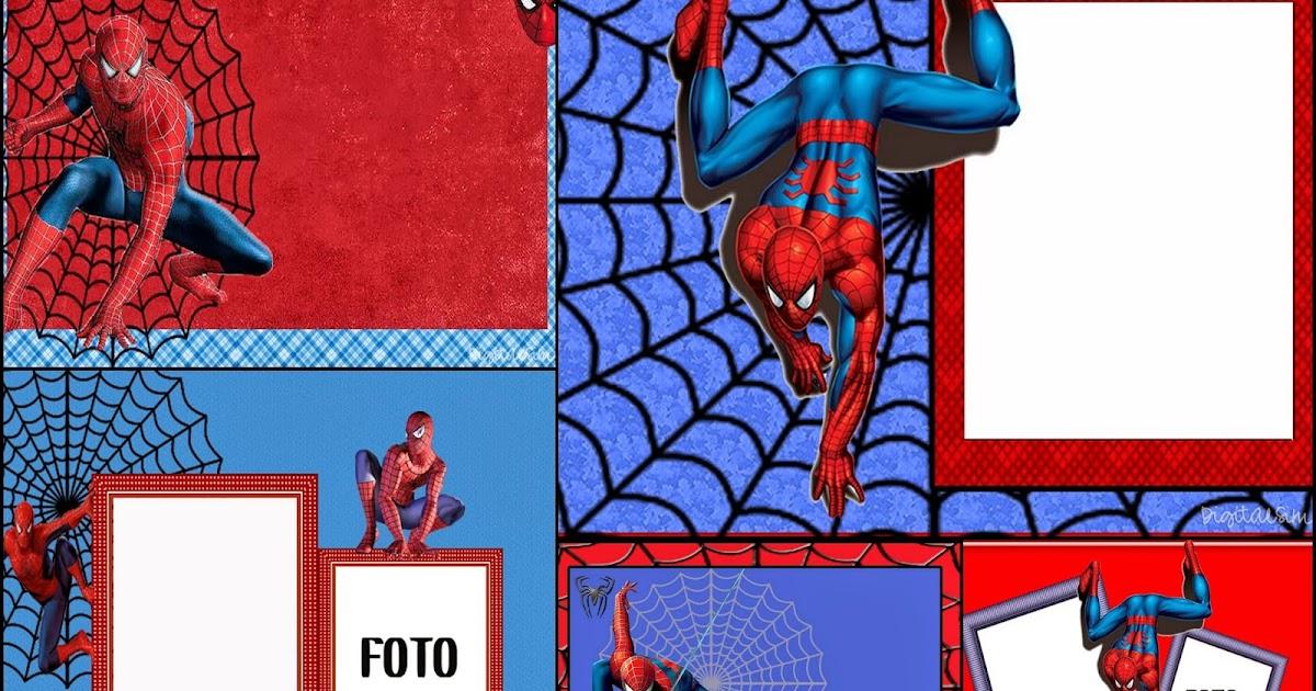 spiderman  invitaciones  marcos o tarjetas para imprimir