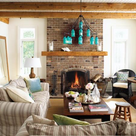 New home design information traditional cottages - Casa de campo decoracion interior ...