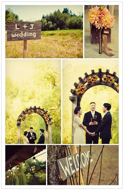 Cute ideas for a backyard ceremony
