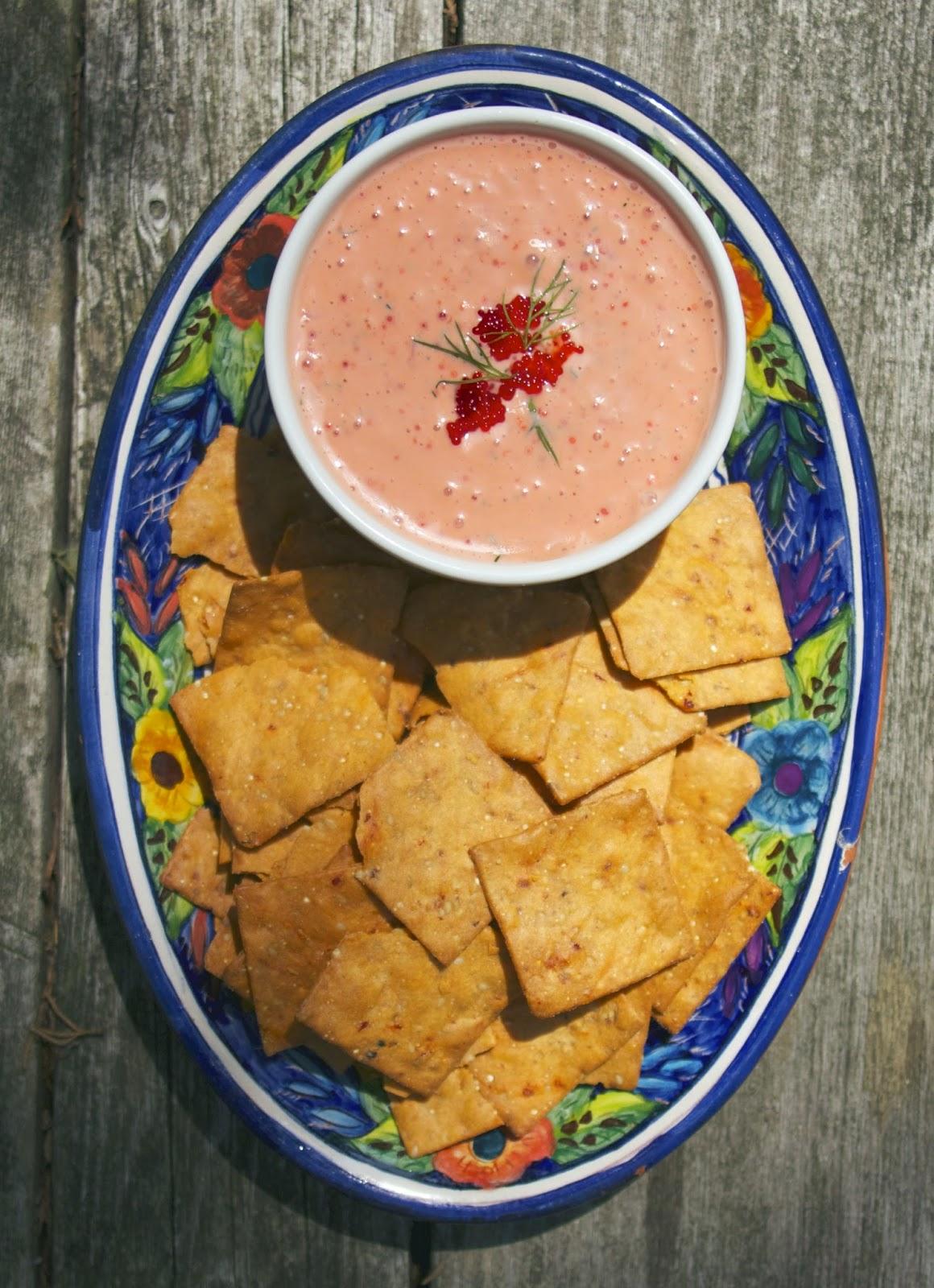 Greek Caviar Dip- Taramasalata- simplelivingeating.com