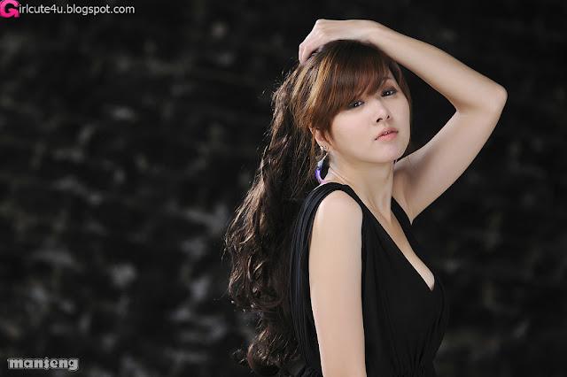 1 Jung Se On - Black Mini Dress-very cute asian girl-girlcute4u.blogspot.com