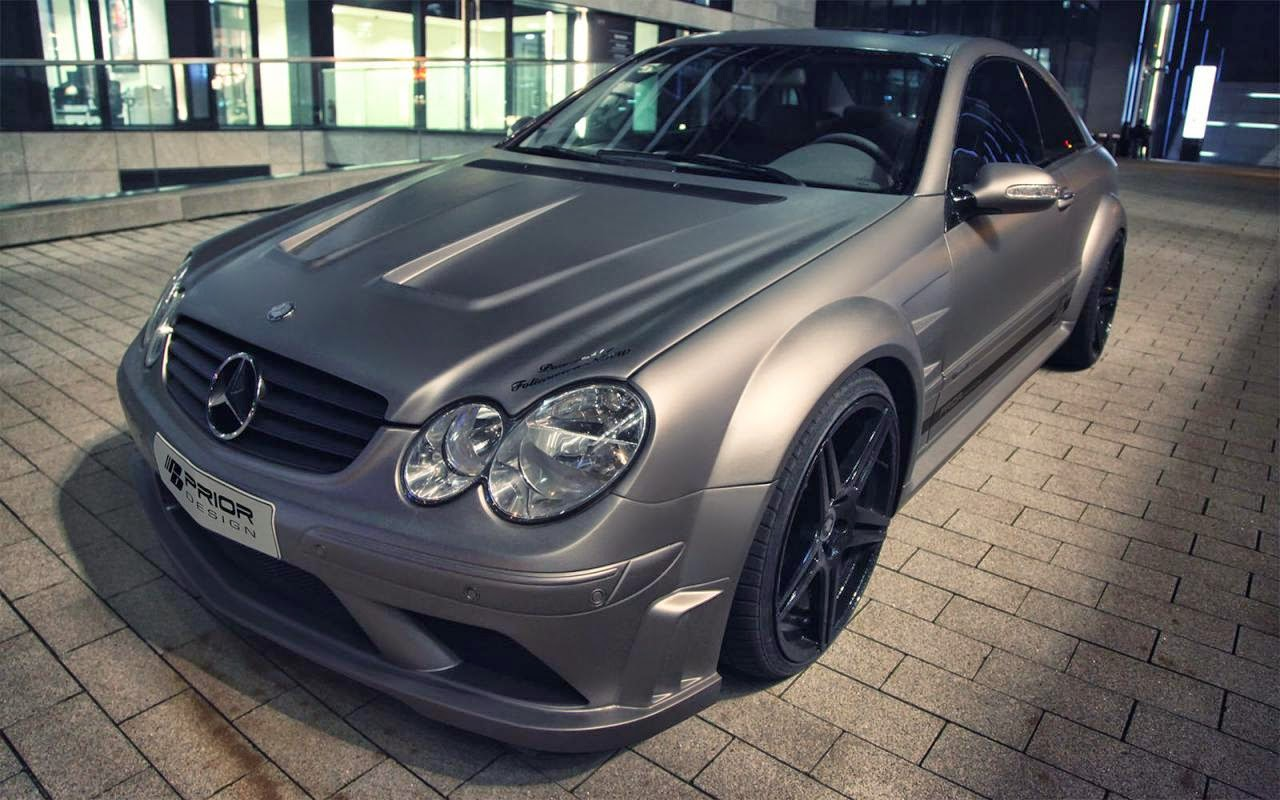 Mercedes Clk With Prior Design Black Series Body Kit Car