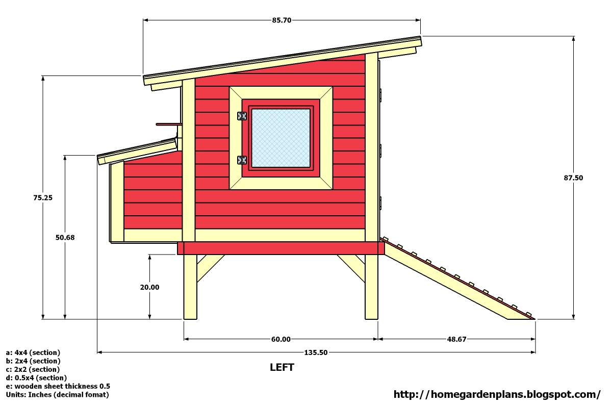 home garden plans m300 74 x135 x88 chicken coop