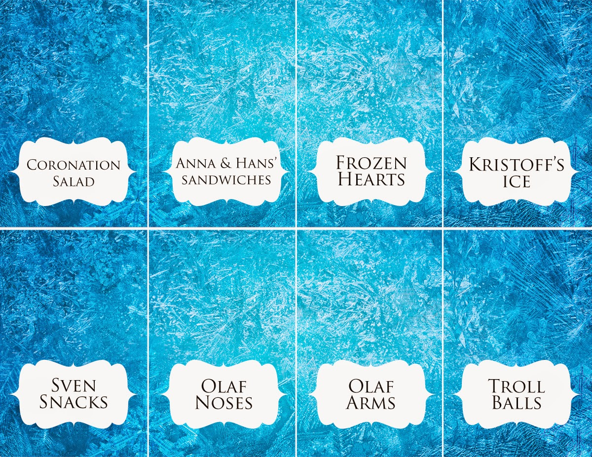 Rambling Renovators: Download: Disney Frozen Food Place Cards