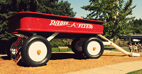 radio flyer spokane pacific northwest travel photography
