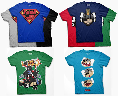 Loyal K.N.G. Spring 2011 T-Shirt Collection - Super Atama, Monkey KNG, Bat Luchadora &amp; Atamakami T-Shirts
