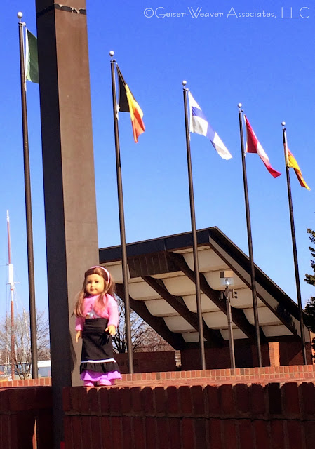 Bay City visit- pink sweater and skirt outfit by Geiser-Weaver Associates, LLC