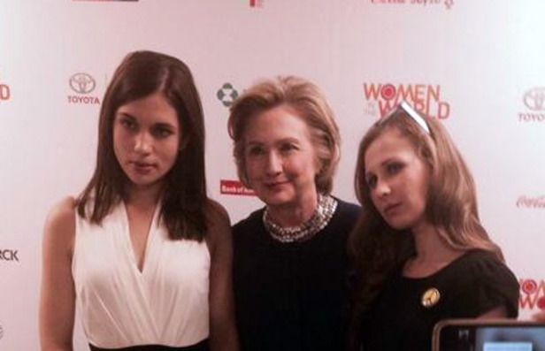 Hillary Clinton and rock group Pussy Riot
