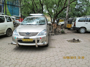 "Our ""Toyota Innova(MP 19 BB2399)""  tourist car"