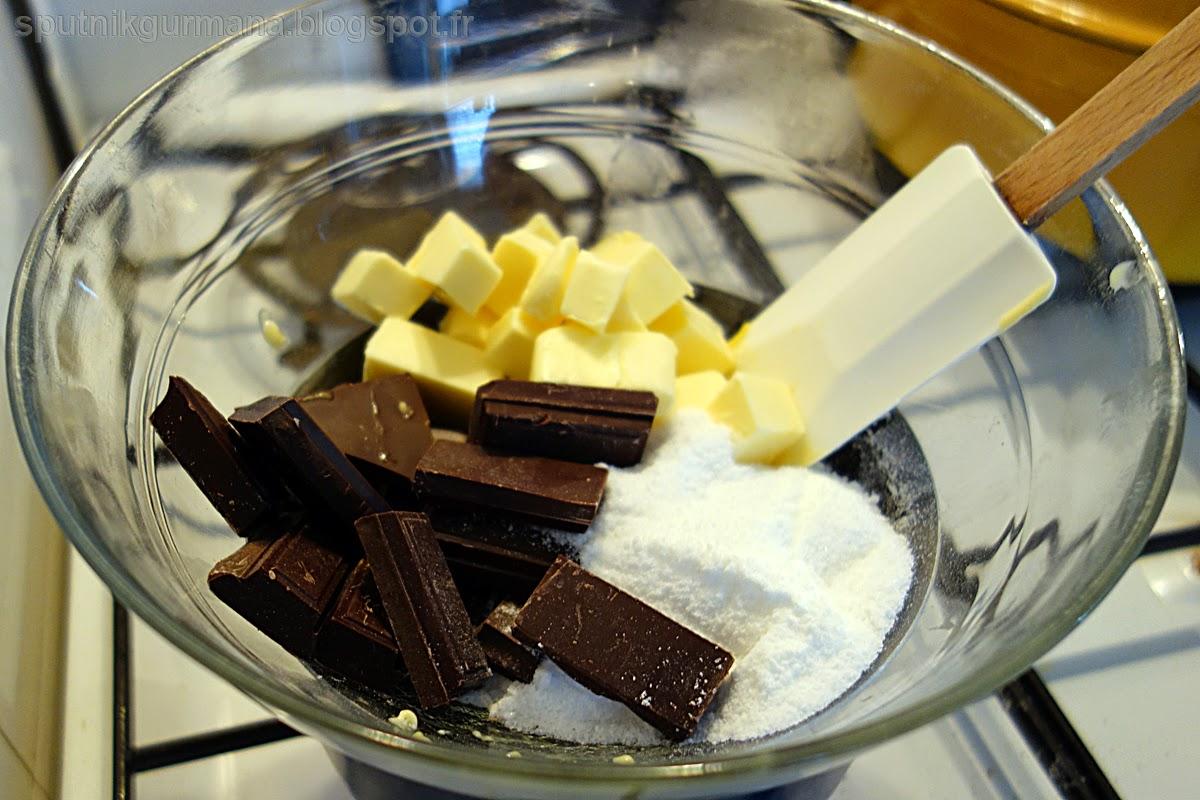 Шоколадный кекс с пряностями-приготовление