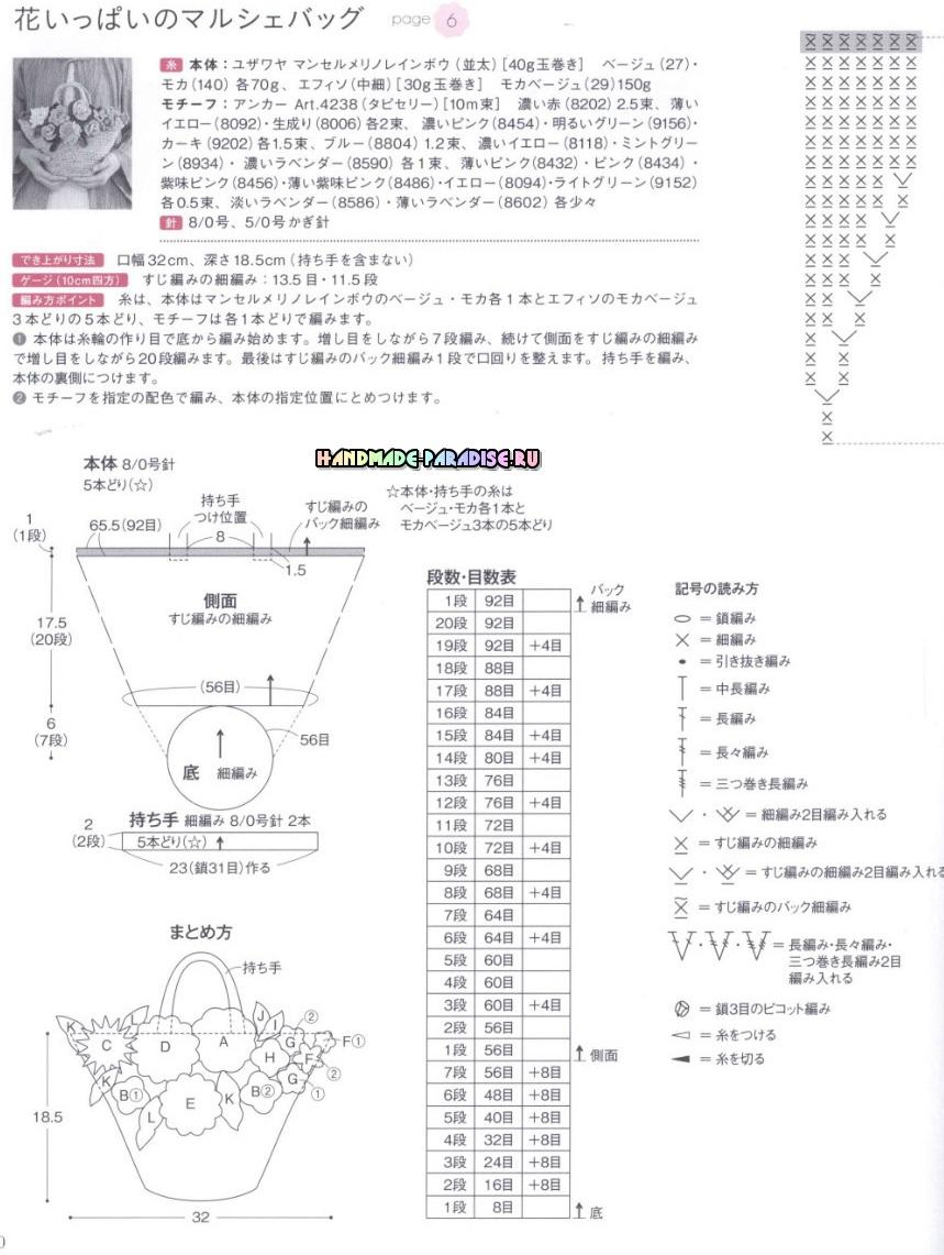 Аксессуары крючком. Японский журнал со схемами