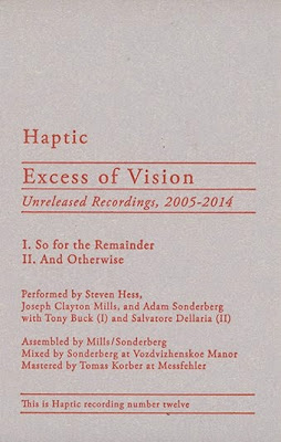 Haptic, Excess of Vision