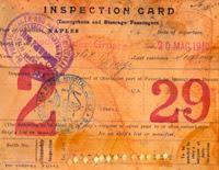 Ellis Island id card