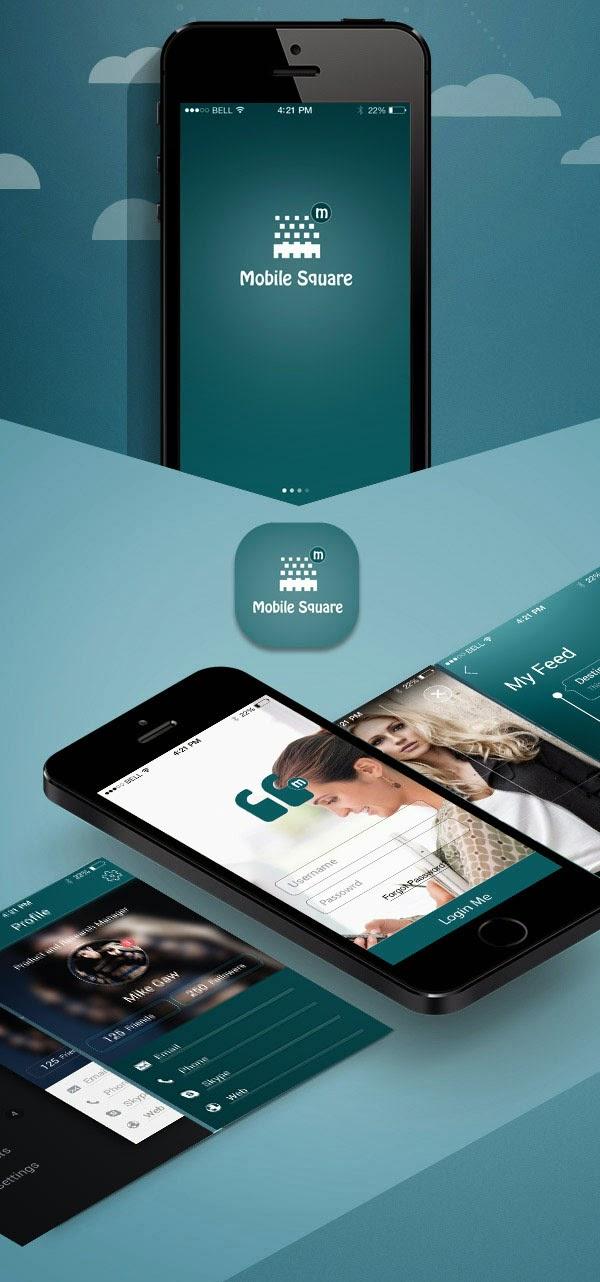 Clean Mobile App Screens UI PSD