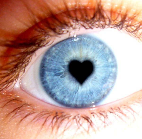 Oko čija je zenica u obliku srca