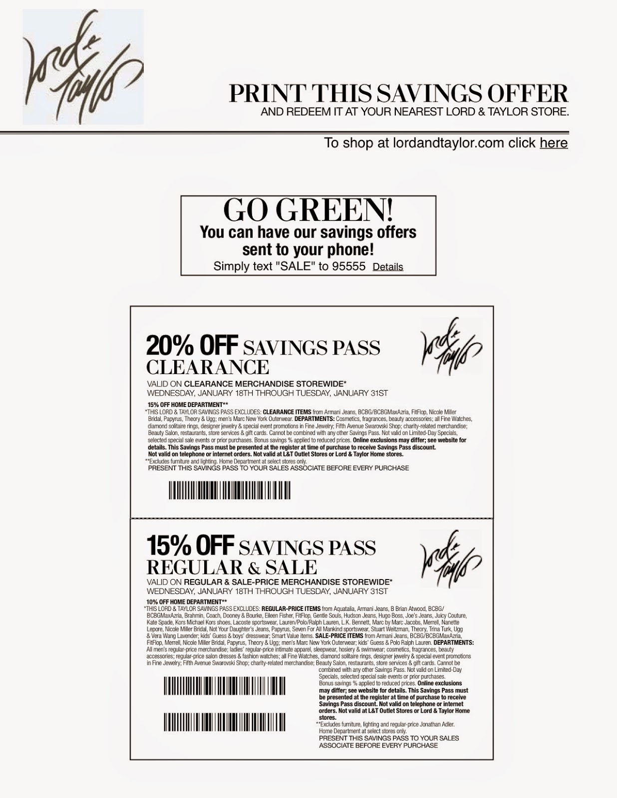 photo about Lord and Taylor Printable Coupon titled Lord and taylor lower price coupon - Great Wholesale