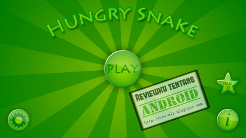 Screenshot tampilan utama permainan HUNGRY SNAKE oleh rev-all.blogspot.com