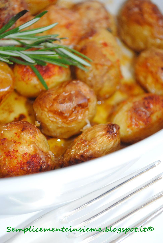 Semplicemente insieme patatine novelle al forno aromatizzate alla paprica e grana - Forno e microonde insieme ...