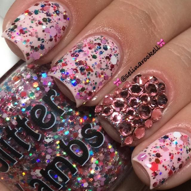 "Glitter Lambs ""Strawberry ShortCake"" Glitter Topper Nail Polish For Your Nails"