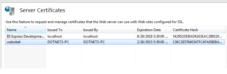 Server Certificates