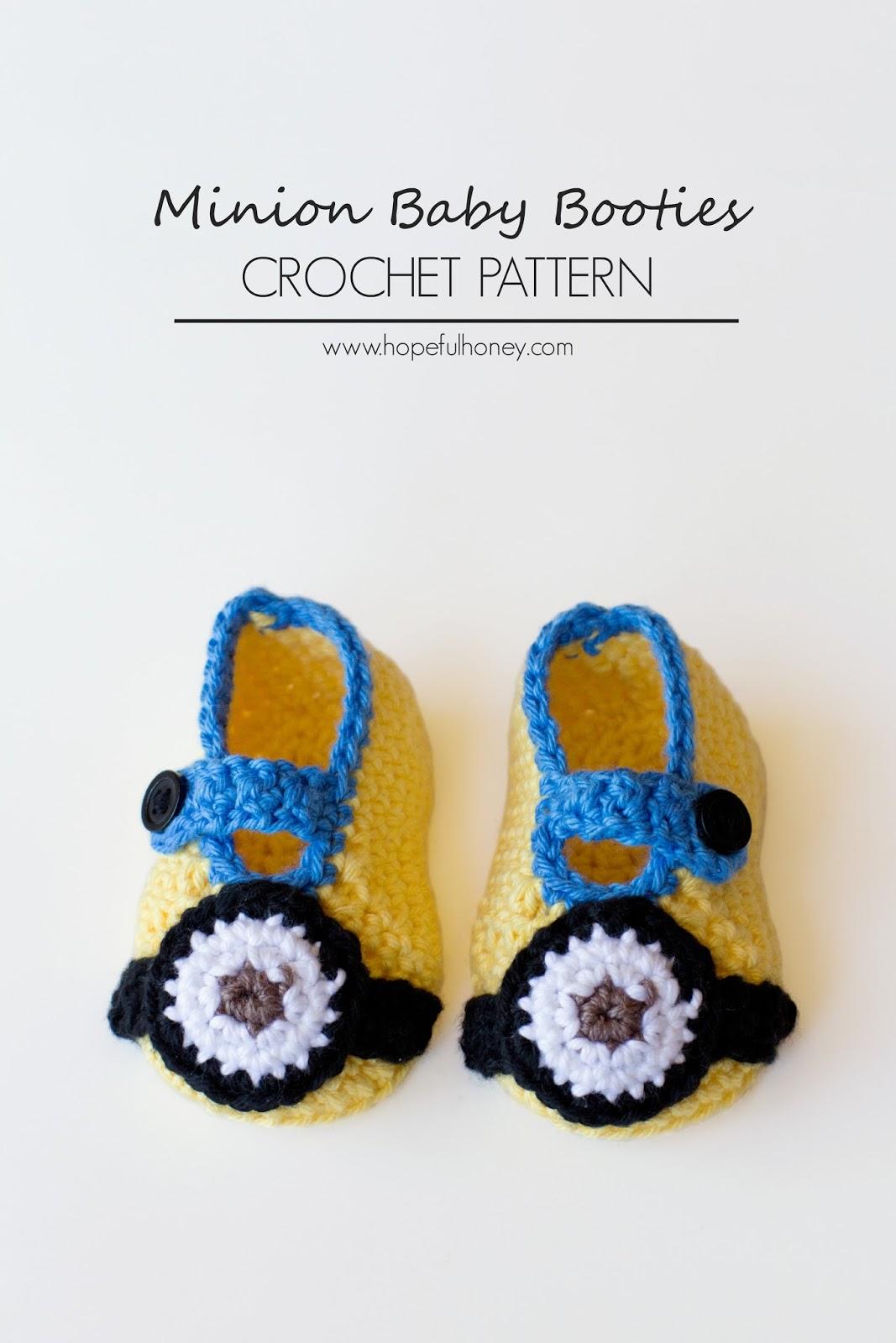 Minion Inspired Baby Booties - Interweave