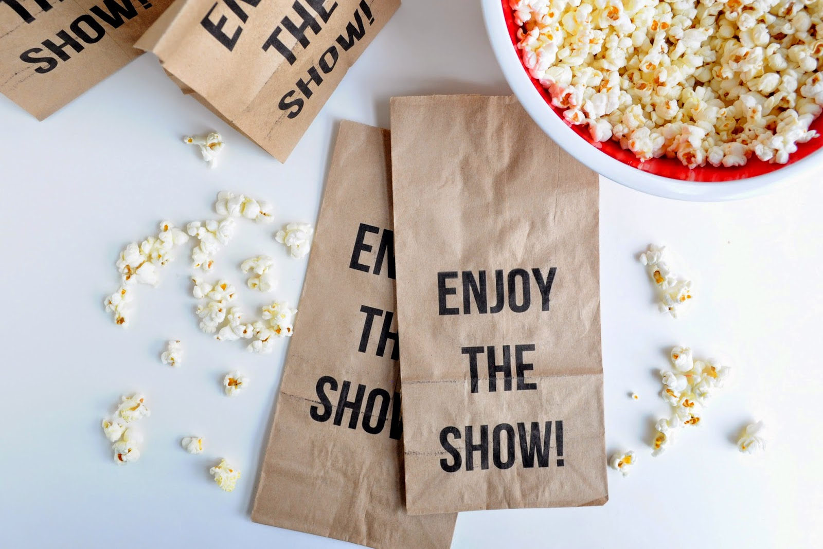 It is a graphic of Lively Popcorn Bag Printable
