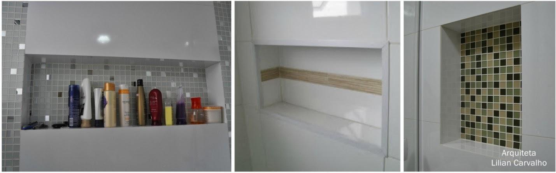 Meu Palácio de 64m² Tudo sobre nichos de banheiro -> Nicho Banheiro Cerâmica