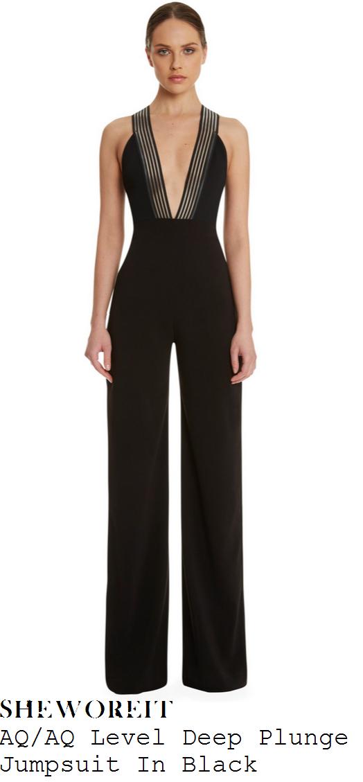 kara-tointon-black-plunge-front-wide-leg-jumpsuit-entourage