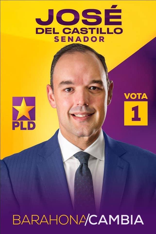 JOSÉ DEL CASTILLO SAVIÑÓN, senador PLD y Aliados provincia Barahona 2020-2024