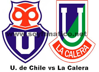 Partido U de chile vs U La Calera 2013