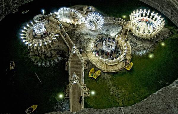Natural wonders - Turda Salt Mine Romania