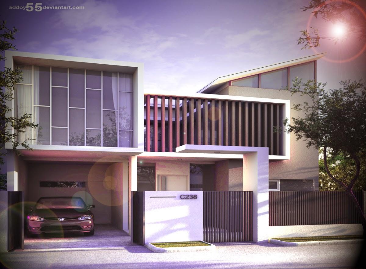 Gambar Rumah Minimalis Modern 2 Lantai Terbaru Karya Arsitek Addoy & Desain Model Rumah Minimalis Terbaru 2015