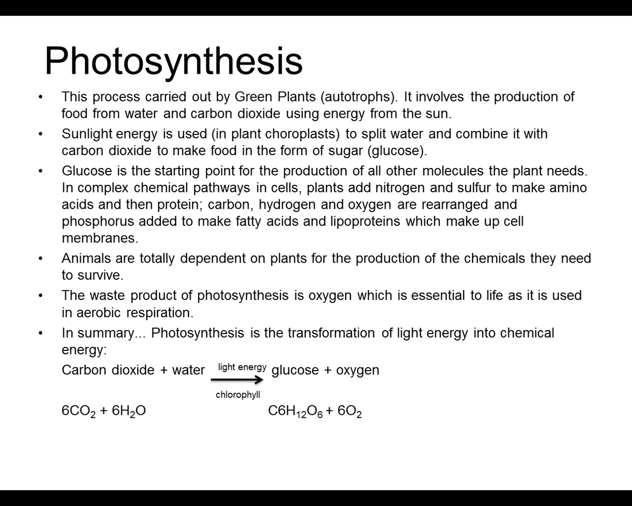 formula for photosynthesis Photosynthesis - all living things need food and energy to survive the food-making and energy process for plants to survive is called photosynthesis plants make food and produce oxygen through photosynthesis.